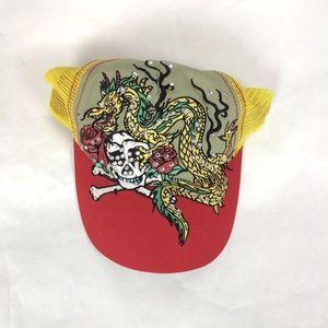 Luckee Headwear Rhinestone Hat Dragon Skull & Bone
